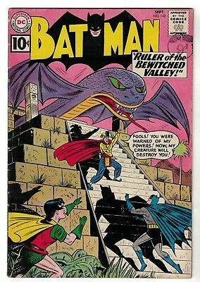 DC Comics BATMAN 142  fN+ 6.5 1961  Silver age  Bewitched Valley