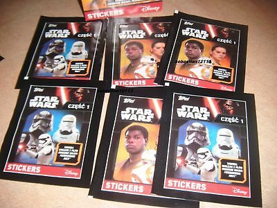 Topps Star Wars The awakening New and Closed  - 100 sachets part 2 stickers