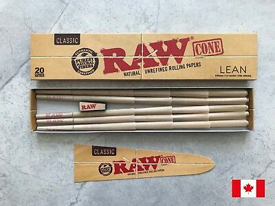 RAW Classic Pre-Rolled Rolling Paper Cone Lean 110mm (20 Cones/Pack)