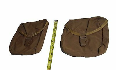 Lot of 2 US Military Surplus USMC Coyote Tan IFAK First Aid Utility Pouch G-VG