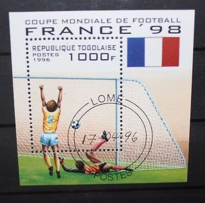 "Francobolli Stamps Togo 1996 ""world Cup France 98 - Football"" Used Block (Cat.a)"