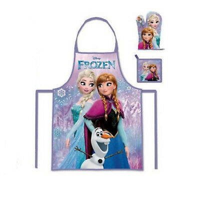 Personalised Embroidered Disney Frozen Girls Apron Glove Pot Holder Set 3-8y