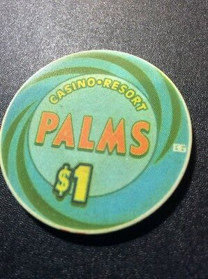 Palms $1 Casino Chip- Mint Condition- FREE SHIPPING