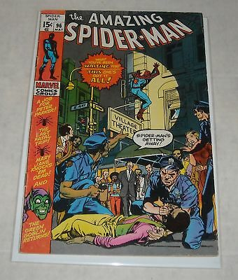 KEY 1971 Marvel AMAZING SPIDER MAN #96 DRUG ISSUES NOT APPROVED CCA BELOW GUIDE