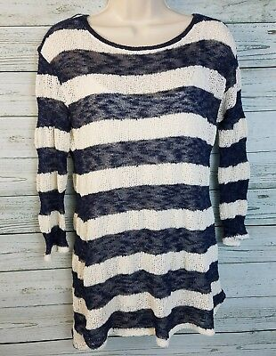 5b94d7b521a74 Motherhood Maternity Long Sleeve Striped Sweater Attached Tank Womens Size  Small