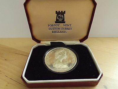 1974 Isle of Man Silver Proof Churchill Crown. Box & Certificate.