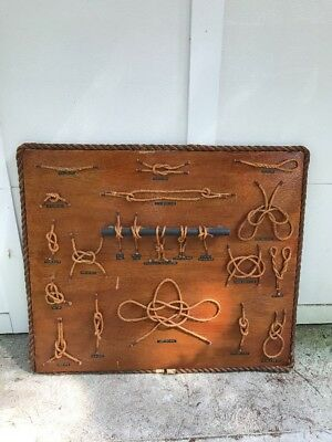 Vintage 1940's /50's  Nautical Knots  on Board MARITIME BOATING SHIP Display