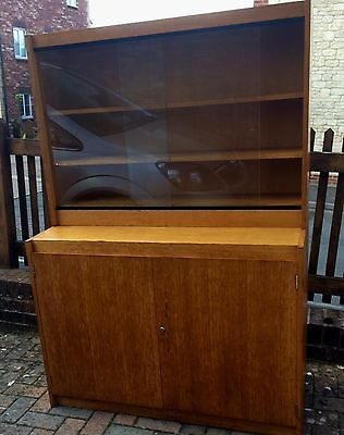 Gordon Russell - Classic Solid Oak (Light) Cabinet with Bookcase