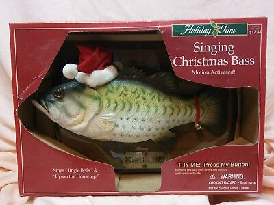 New Motion Activated Singing Christmas Bass Toy