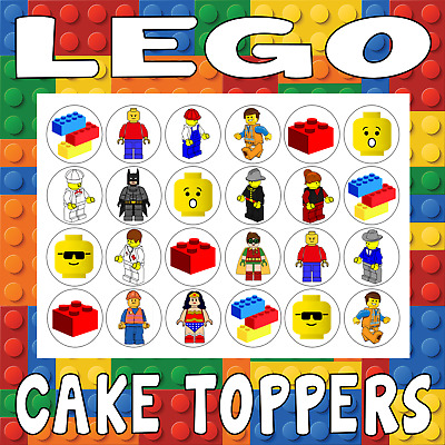 Lego Cupcake Toppers Cake Rice Paper - Toy Children