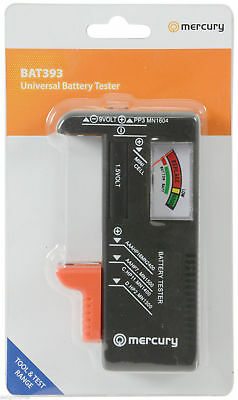 Small Handheld Battery Tester - Universal -Aaa-Aa-Pp3-C-D- Button Cell 9Volt