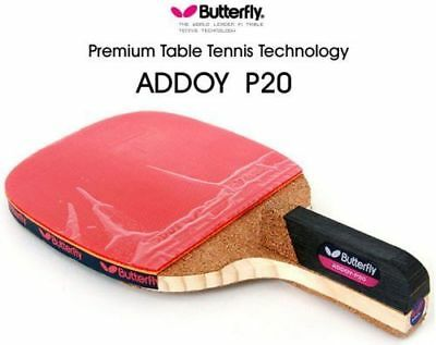 Butterfly Addoy-P20 Table Tennis,Ping Pong Racket Pen hold Paddle Free balls