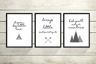 Personalised Children's personalised nursery A4 Print- Nursery Wall art-SET OF 3