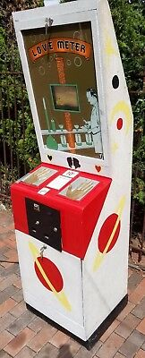 Love Tester Arcade 1940s Coin Operated Vintage Rare Mancave Arcade Game