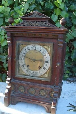 Mantel  Clock  Twin Striking   Bracket  Clock Working  Tidy  Up