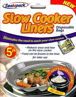 Slow Cooker Liners Disposable bags safe the Cooker from Wear and Tear