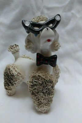 Vintage Spaghettie Poodle Figurine with Glasses