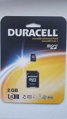 Duracell 2gb MicroSD Memory Card + Adapter Lot of 5 Sandisk Kingston BRAND NEW
