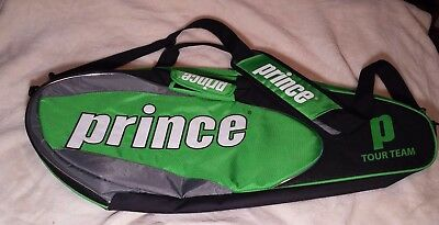 EUC Prince Tour Team 3 pack Tennis Bag-Green/Black/White/Grey