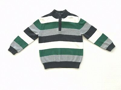 Boys Cherokee Striped Sweater with 1/4 Zipper Size 5T