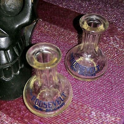 Set of 2 Vintage Shot Gin Glasses from the Roosevelt Hotel in New Orleans Rare