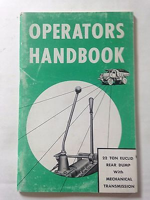Operators Handbook 22 Ton Euclid Rear Dump Mechanical Transmission