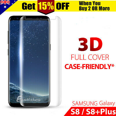 3D Full Cover Tempered Glass Screen Protector For Samsung Galaxy S8/S8 Plus UW