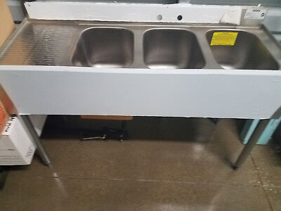 NSF Crowne, 3 Compartment Sink Stainless Steel