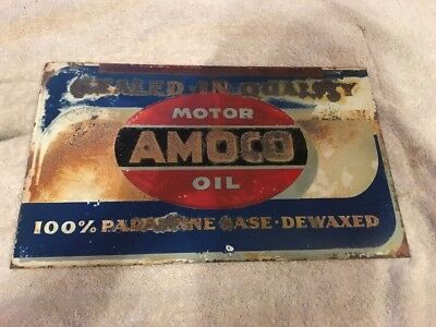 1949 Amoco Gas Oil Advertising Sign