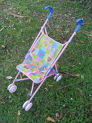 Dolls Pram Collapsible Metal Umbrella Stroller - Pink - Aussie Star