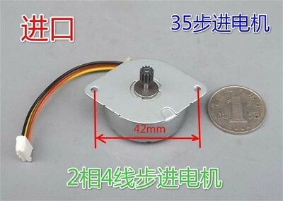 DC 5V Minebea 35mm 2-Phase 4-Wire 7.5° Micro Stepper Motor w/ Gear 0.4M 12T,DIY