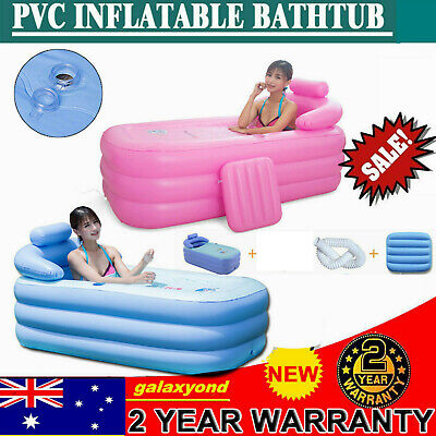 Adult Portable Folding SPA Blowup Inflatable Bath Tub Home Indoor Air PVC
