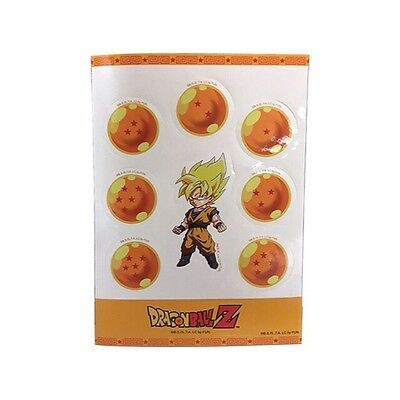 Dragon Ball DBZ Super Saiyan Goku & 7 DragonBalls Sticker Set AUTHENTIC **NEW**