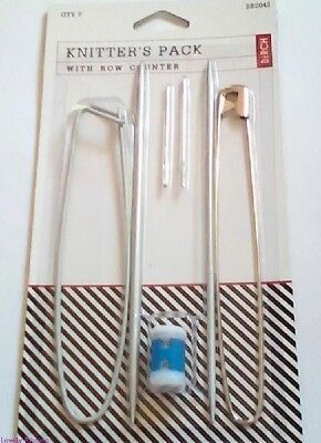 BIRCH 7 PEICE KNITTERS PACK, Needles, Row Counter, Safety stitch, Sewing