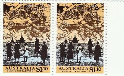 Australian Stamps   Anzac Tradition 1990 5 Twin Sets