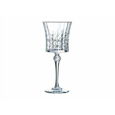 Cristal D'Arques Lady Diamond Set of 6 270ml Wine Glass Gift Boxed Brand New