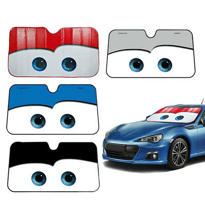 1pcs New Cartoon Car Windshield Sun Shade Big Eyes Cars Front Cover 51.2x27.56""