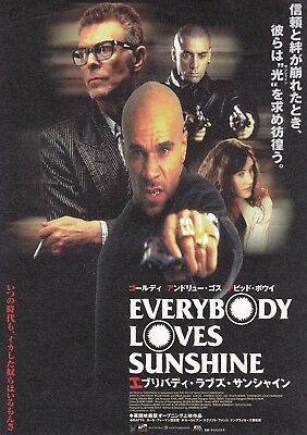 EVERYBODY LOVES SUNSHINE B.U.S.T.E.D.Japan Film Flyer David Bowie Goldie RARE 99