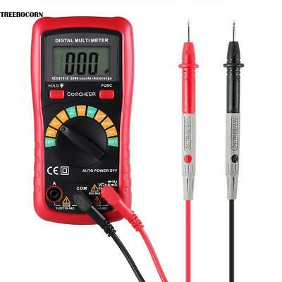Digital Multimeter AC DC Spannung Widerstand LCD Display Test-Blei Auto-Range