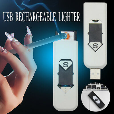 Mini Plasma Electric Lighter Metal Windproof USB Rechargeable Gift Cigarette