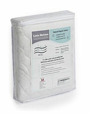 Baby Crib Mattress Waterproof with Top Layer from Organic Cotton and Elasticated