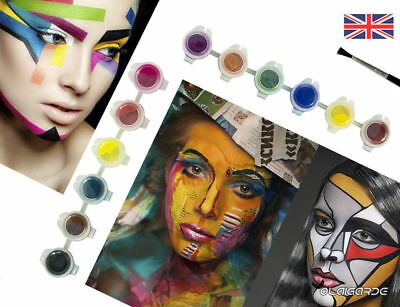 Halloween 12 Colors  Face Body Paint Oil Painting Party Art Cosmetic DIY Set Kit