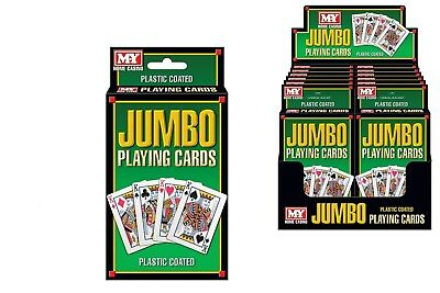 NEW Jumbo Plastic Playing Cards | Family Card Games Outdoor Toys | ihartTOYS