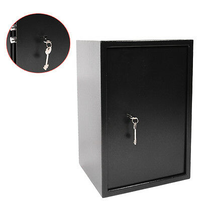 High Key Lock Safety Box Security Strong Steel Safes Home Office Money Cash Safe