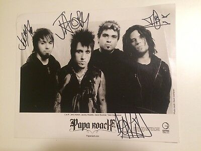 Signed Papa Roach Poster A4