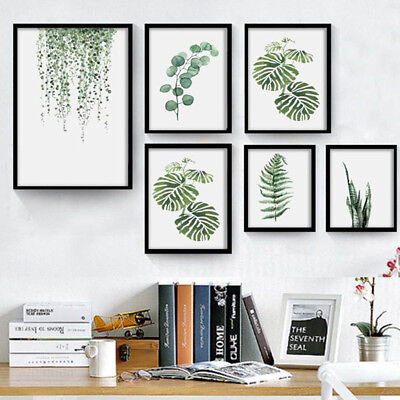Nordic Style Pastoral Green Plant Leaves Modern Minimalist Decor Painting Classy