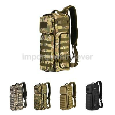 Heavy Duty MOLLE Shouder Chest Bag Crossbody Pack Mountaineering Backpack Pouch