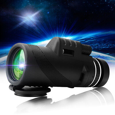 40X60 HD Day &Night Vision Dual Focus Optics Zoom Monocular Telescope Waterproof