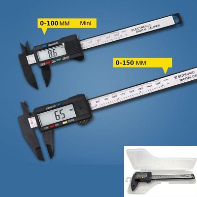 150mm LCD Digital Vernier Caliper Electronic Micrometer Measure Gauge Tool Ruler