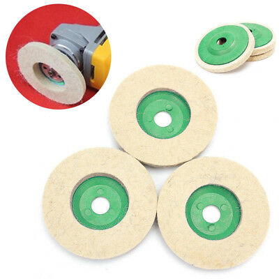 3x Metal Glass Polishing Buffing Wheel Wool Felt Polisher Disc Pad Mat Healthy